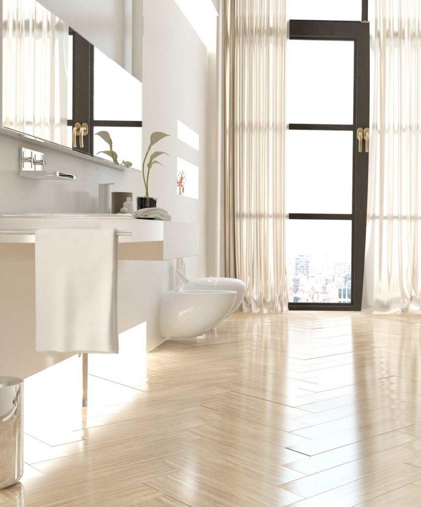Custom design hardwood floor